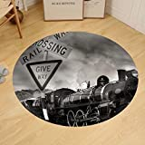 Gzhihine Custom round floor mat Old Fashioned Steam Locomotive Kingston New Zealand