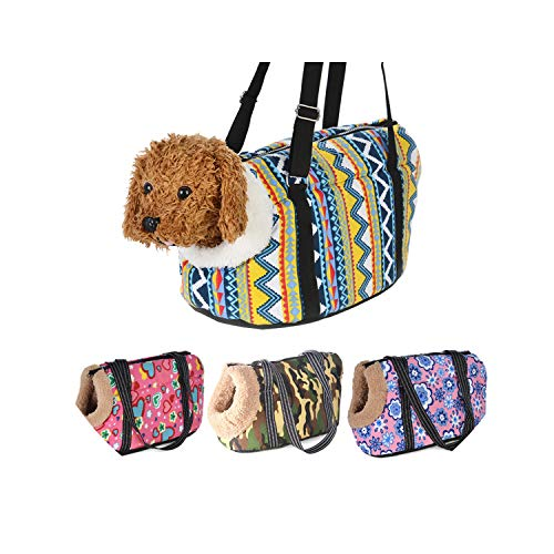 Classic Pet Carrier for Small Dogs Cozy Soft Puppy Cat Dog Bags Backpack Outdoor Travel Pet Sling Bag Pug Pet Supplies,Without Fur,S 36 X 21 X 24 cm