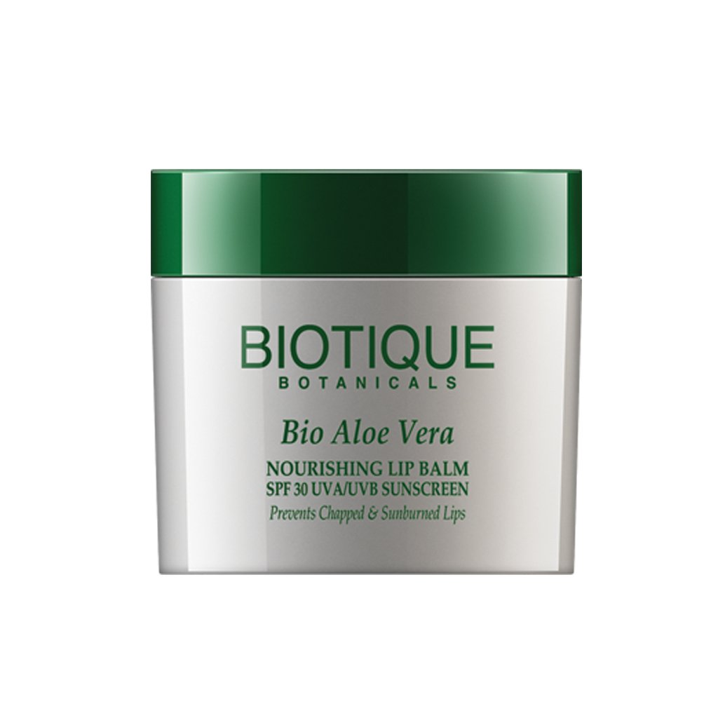 Bio Aloe Vera Nutriente Lip Balm SPF 30 UVA/UVB Sunscreen Impedisce Labbra screpolate e Sunburned Bio Veda Action Research Co RETMLSJ0007