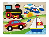 Best Airplane-travel-toys - Melissa & Doug Vehicles Wooden Chunky Jigsaw Puzzle Review