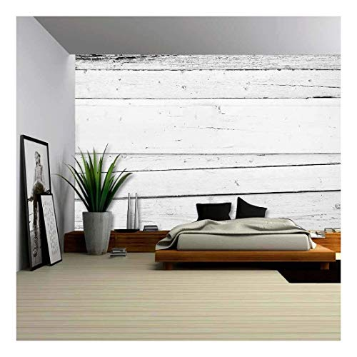 wall26 - Grunge Background of Weathered Painted Wooden Plank - Removable Wall Mural | Self-Adhesive Large Wallpaper - 100x144 inches