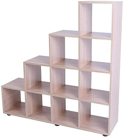 Estantería cubo madera, escalera con 4 estantes (con 10 estanterías a Cubo) diseño de Katrina revenaugh