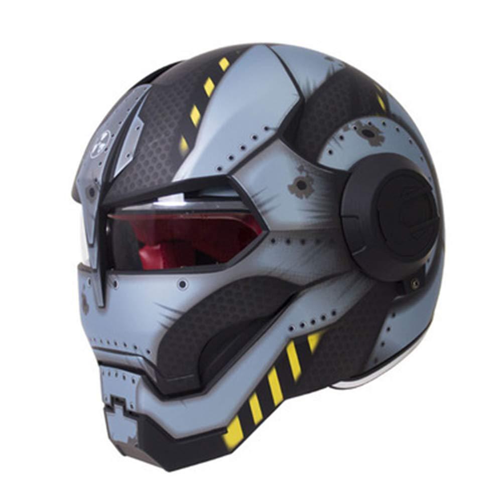 オートバイヘルメット オフロードオートバイレーシングヘルメット フルフェイスダンピング 耐久性 モータースポーツヘルメット 多色選択 快適 B07QYSQWJK XL|カラー9 カラー9 XL
