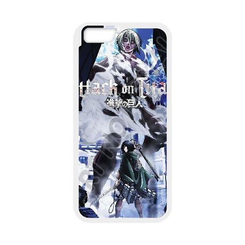 Attack On Titan coque iPhone 6 4.7 Inch Housse Blanc téléphone portable couverture de cas coque EBDOBCKCO13923
