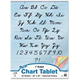 "Pacon Colored Paper Chart Tablet, 24""X32"", 1"" Ruled Cursive Cover, 25 Sheets"