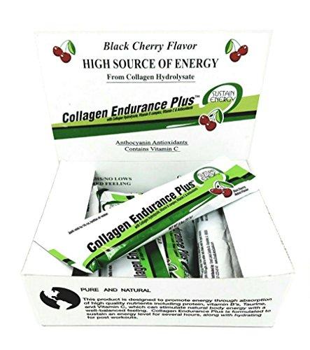 Great Lakes Gelatin Collagen Endurance Plus, Natural Black Cherry, Kosher, 10 Packets