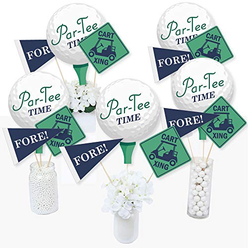 (Par-Tee Time - Golf - Birthday or Retirement Party Centerpiece Sticks - Table Toppers - Set of)