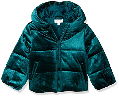 Gymboree Girls' Big Puffer Jacket, Green Velvet, 3T