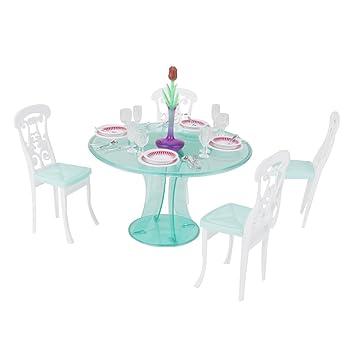 Barbie Puppenhaus Möbel Eingestellt Esstisch Miniatur Für vm8nwO0N