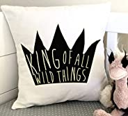 """Wild Things Pillowcovers 18""""x18"""" Pillowcovers Nursery Pillowcovers Throw Pillowcovers Home Decor Whe"""