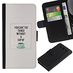 iKiki Tech / Cartera Funda Carcasa - Coffee Cup Quote Caf¨¦ Teal - Samsung Galaxy S3 I9300