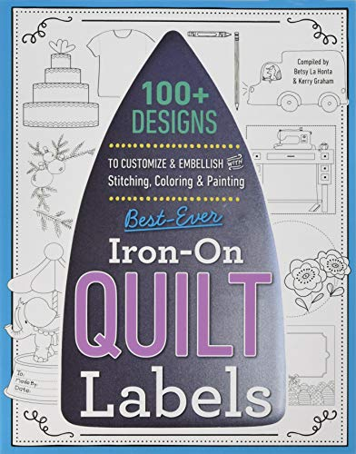 C & T Publishing 20393 Best Ever Iron On Quilt & Needle Art Labels, Multicolor -