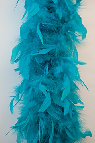 Cynthia's Feathers 80g Turkey Chandelle Feather Boas Over 30 Color & Patterns (Teal)