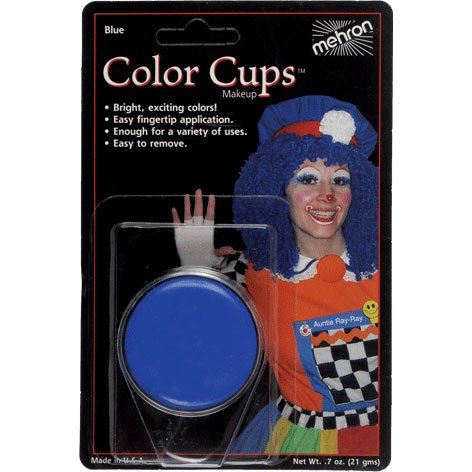 Mehron Face Paint Color Cup Clown Halloween Make Up Foundation BLUE