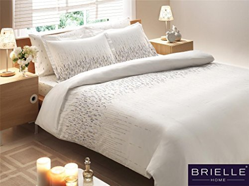 Brielle Bamboo Cascade Duvet Cover Set, Comes in a Giftable Box, Full/Queen