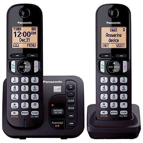 Panasonic KX-TGC222B Answering System with 2 Handsets (Renewed) (KX-TGC222S BLACK)