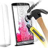 ONX3® LG G3 Case Custom Made Tempered Glass Crystal Clear LCD Screen Protectors Packs With Polishing Cloth & Application Card ( 1 Pack )