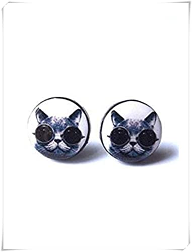 Pendientes de gafas de gato, pendientes de gato, pendientes ...