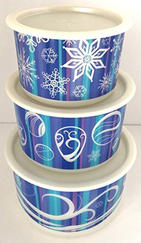 Tupperware Winter Stacking 3 Pc. Canister Set
