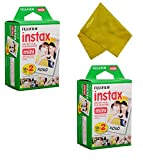 Fujifilm Instax Mini Instant Film 40 Prints (2 Twin Packs = 40 Pictures) for Fuji Mini 90, Mini 70, Mini 50s, Mini 25, Mini 9, Mini 7s, Mini 8+, Mini 8 Camera, Smartphone Printer SP-1 SP-2