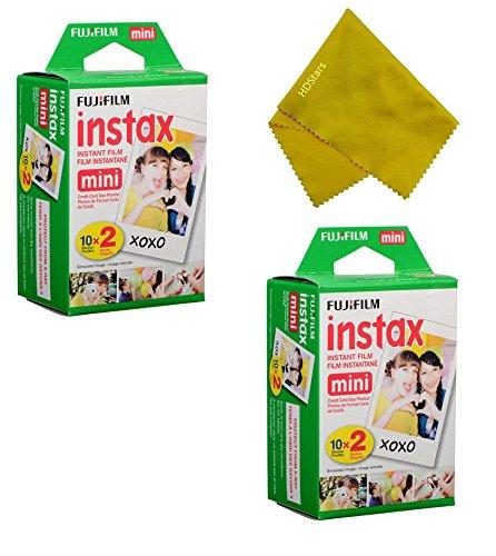 Fujifilm Instax Mini Instant Film 40 Prints (2 Twin Packs = 40 Pictures) for Fuji Mini 90, Mini 70, Mini 50s, Mini 25, Mini 9, Mini 7s, Mini 8+, Mini 8 Camera, Smartphone Printer SP-1 SP-2 (Fuji Instax 50s Film)