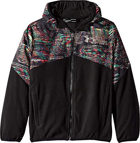 Under Armour Boys' Big Print North Rim Micro Fleece Jacket, Black, Large (14/16) ()