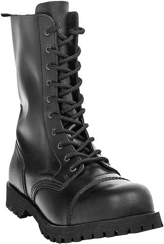 Boots & Braces Stiefel 10 Loch Rangers Schwarz