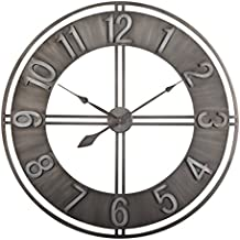 Studio Designs Home 73003 Industrial Loft Metal Decor Wall Clock, Steel, 30""