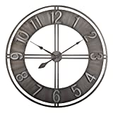 Cheap Studio Designs Home 73003 Industrial Loft Metal Decor Wall Clock, Steel, 30″