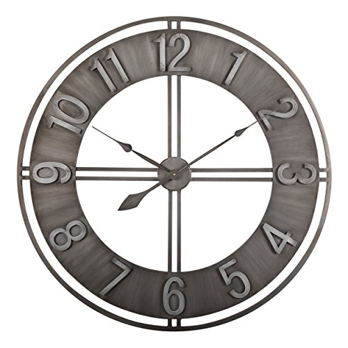 Studio Designs Home  Industrial Loft Metal Decor Wall Clock, Steel