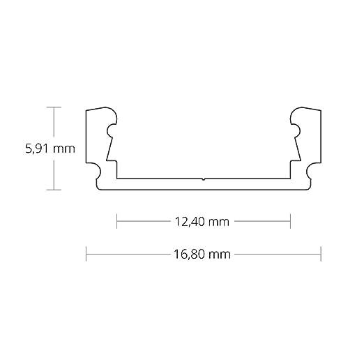 3 x LED perfil de aluminio PL1 Anser 2 Meter para tiras de perfiles de aluminio con cubierta: Amazon.es: Iluminación