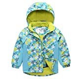 Kids Ski Jackets Hooded Snowsuit Waterproof Winter Outerwear for Winter Sports