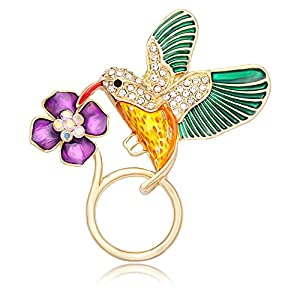 NOUMANDA Jewelry Hummingbird Magnetic Eyeglass Holder Emerald Bird Magnetic Brooch (gold)