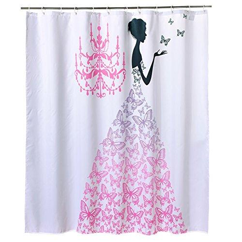 blue zebra print shower curtain - 7