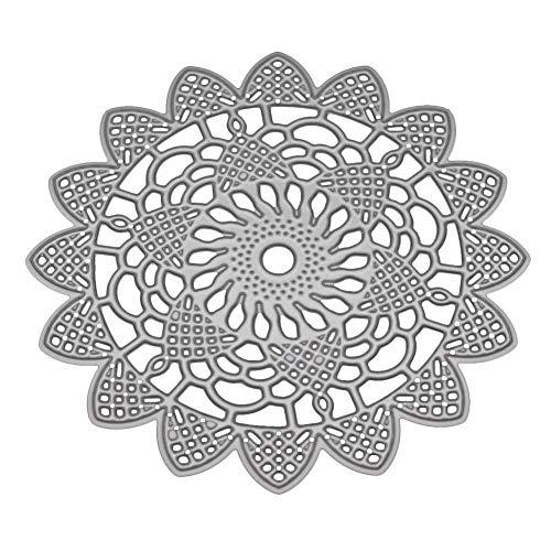 JULUJ 1010cm Lace Round Cutting Stencils DIY Scrapbooking/Photo Album Decorative Embossing DIY Card ()