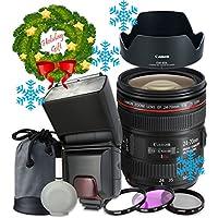 Canon EF 24–70mm f/4L IS USM Lens For Canon T6s T6i 7D Mark II 80D 70D 6D 5D Mark III Mark IV 5DS 5DS R DSLR Cameras