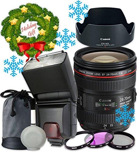 Canon EF 24–70mm f/4L IS USM Lens For Canon T6s T6i 7D Mark II 80D 70D 6D 5D Mark III Mark IV 5DS 5DS R DSLR Cameras -  33rd Street Camera, 33-2470F4-111616