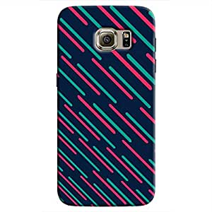 Cover It Up - Teal Lasers Galaxy S7 EdgeHard Case