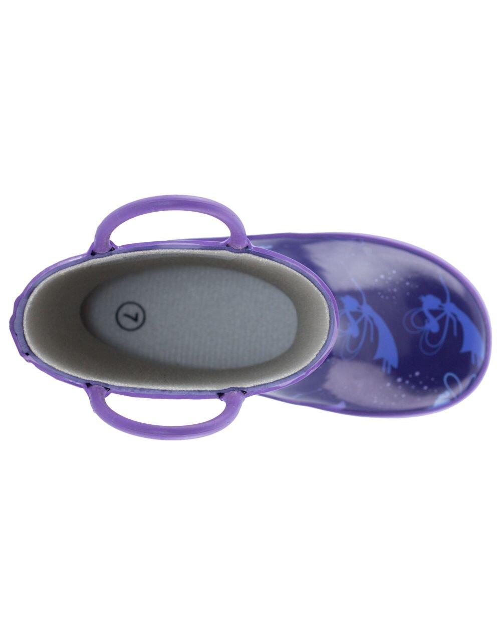 Oakiwear Kids Rubber Rain Boots with Easy-On Handles, Fairy Dust, 1Y US Little Kid by Oakiwear (Image #9)