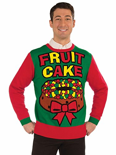 Forum Novelties Fruit Cake Christmas Sweater -