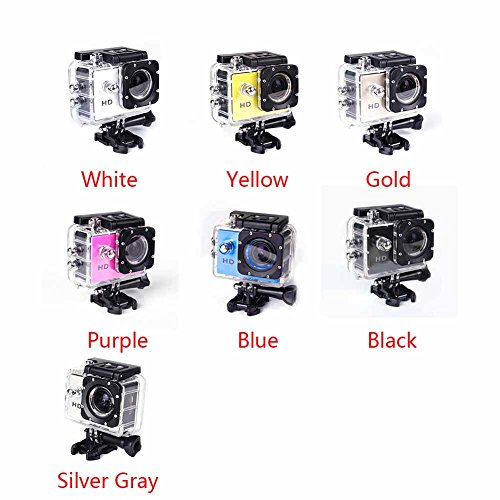 SJ4000 Action Camera, Yvonne Ultra HD 1080P CMOS Sensor Underwater Cam 30M Waterproof Camera Camcorder with Battery for Extreme Sports, Outdoor Sports Activities(Blue)