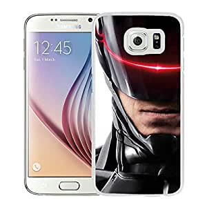 Robocop 2014 03 White Samsung Galaxy S6 Screen Phone Case Genuine and Newest Design