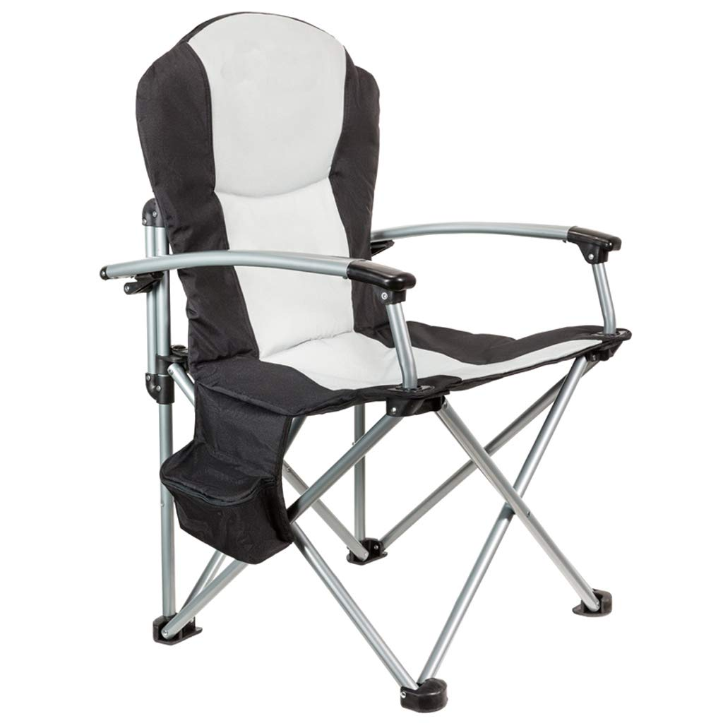 肘掛けおよびあと振れ止めのビーチチェアが付いている屋外の折る椅子釣椅子はキャンプのバーベキューのために使用することができます JSFQ B07STSR2DH