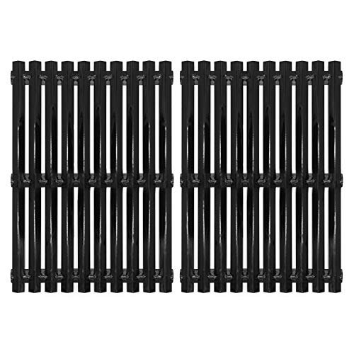 Hongso Porcelain Steel Cooking Grid Grates Replacement Parts for Brinkmann, Sunbeam, Nexgrill 720-0697E, Grill Master 720-0697 and Uniflame Gas Grillss, 17 3/16 incn BBQ Grill Parts, 2-Pack (PCI812)