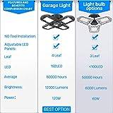 120W Garage Light, New Four Leaf Tribright