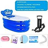 KLWJ Inflatable bath,Portable adult bathtub,Foldable inflatable bath,Children anti-slippery swimming pool,Inflatable bath tub-P 130x75x70cm(51x30x28inch)
