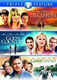 God's Country/Lukewarm/Decision Triple Feature