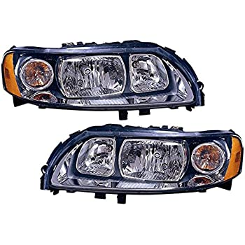 volvo s60 2 5t t5 05-09 halogen head light lamp with bulb pair