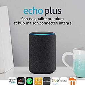 Echo Plus (2ème génération), Son de qualité premium avec un hub maison connectée intégré, Tissu anthracite 7