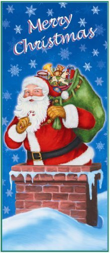 christmas party door poster banner santa night before christmas